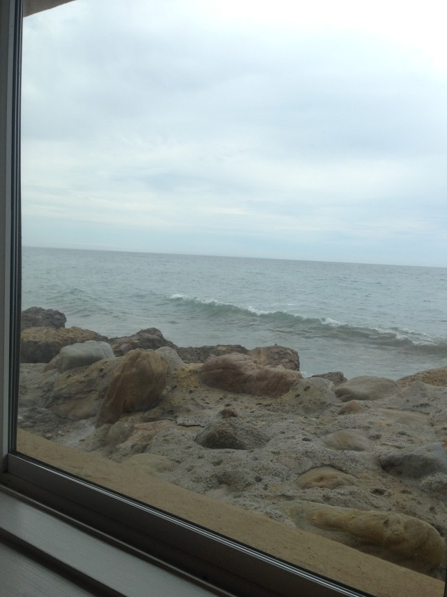 Eating lunch at Dukes enjoying the beautiful ocean. www.alexisvear.com