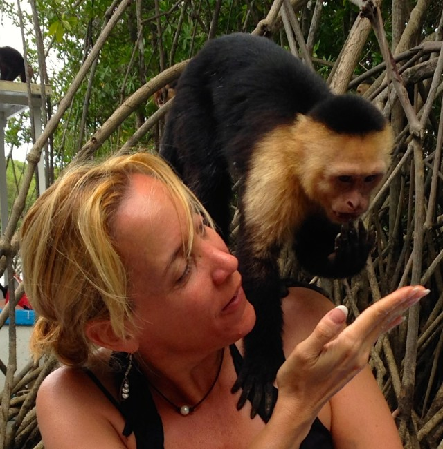 Monkey on my head.