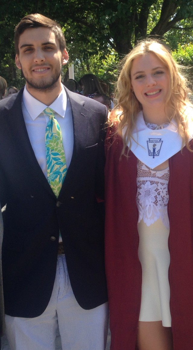 My son and daughter at her graduation.